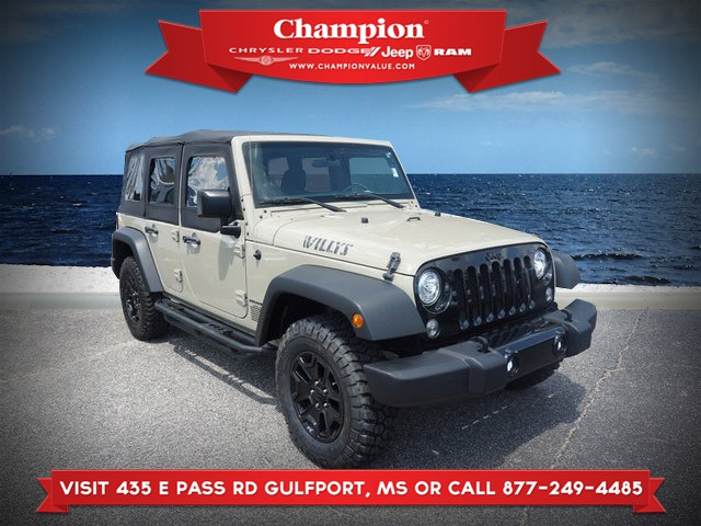 Pre-Owned 2017 Jeep Wrangler Unlimited Willys Wheeler 4WD