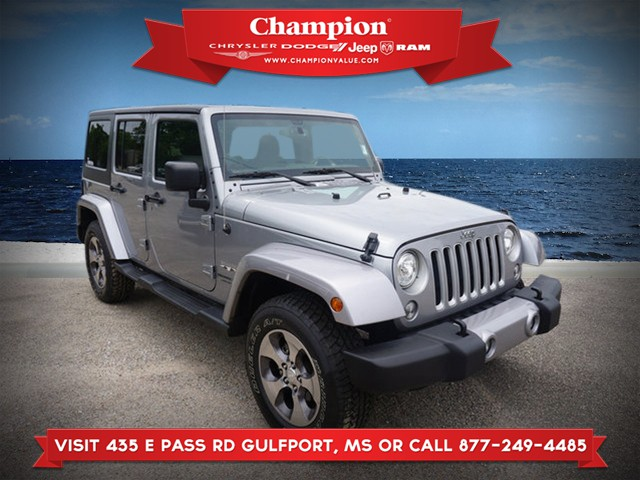 Certified Pre-Owned 2018 Jeep Wrangler Sahara 4WD JK Unlimited