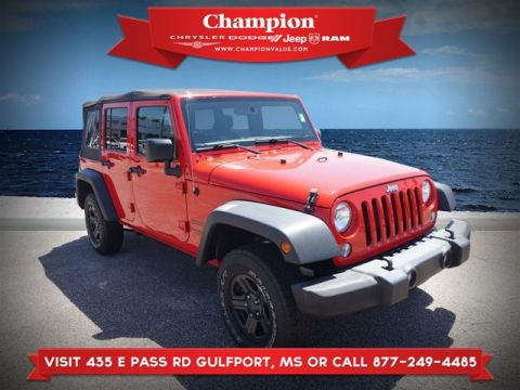 Pre-Owned 2016 Jeep Wrangler Unlimited Sport 4WD